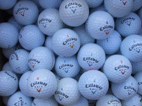 Golfballen gebruikt/lakeballs Callaway mix AAAA klasse 100 stuks.