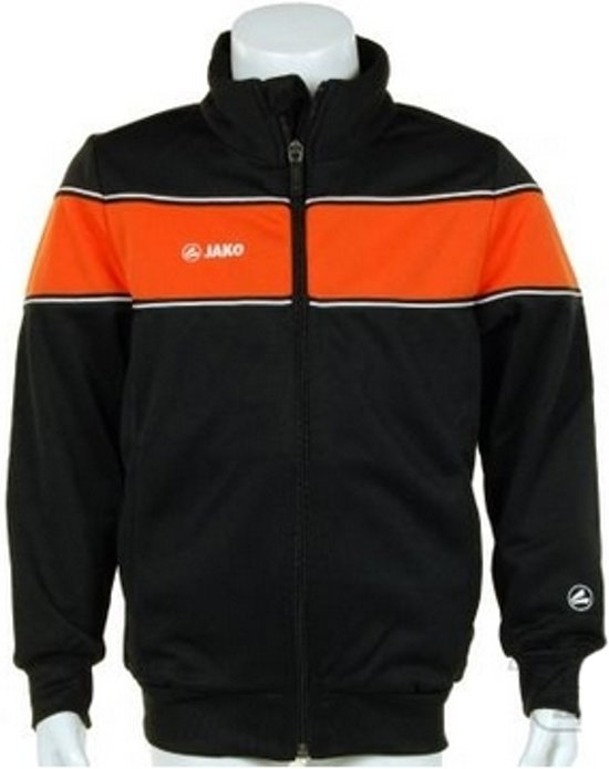 Jako Trainings Jacket Player Junior - Sportshirt - Kinderen - Maat 164 - Black;Orange
