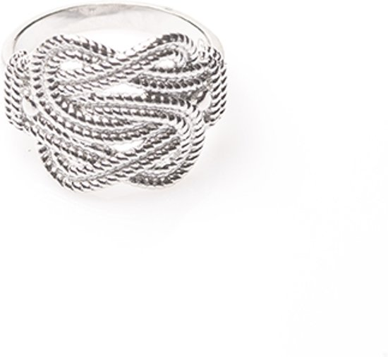 Mattenklopper ring  - Zilver - 16.00 mm (50)