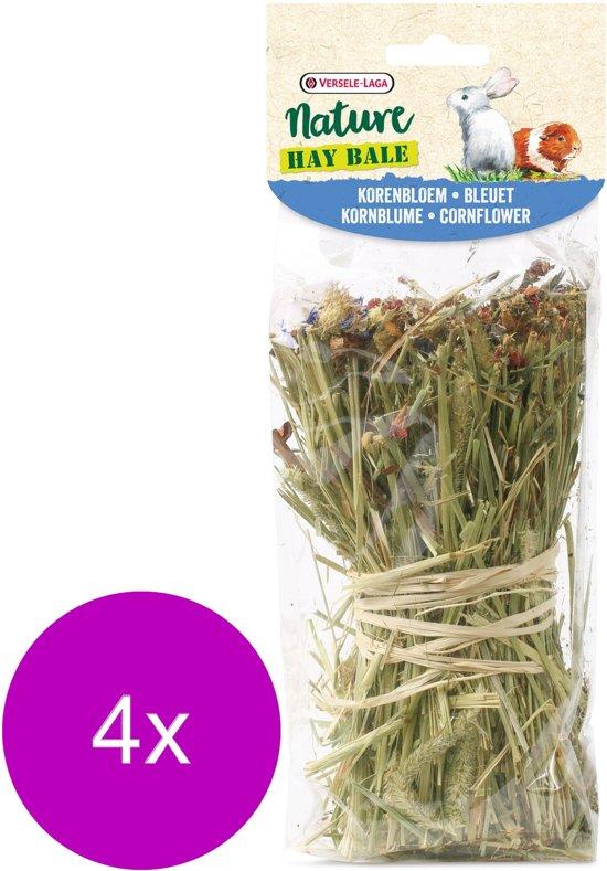 Versele-Laga Nature Snack Hay Bale Cornflower - Ruwvoer - 4 x Korenbloem 70 g