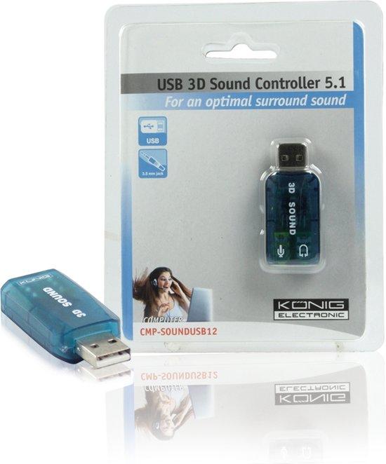 König - USB 2.0  naar Surround Adapter 5.1