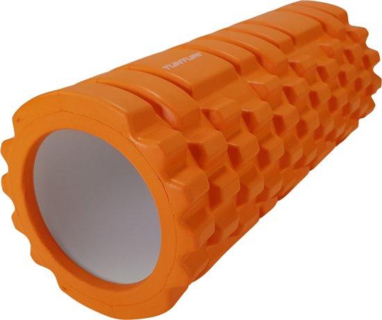 Tunturi Yoga Grid Foam Roller Massage - Fitness Roller - Triggerpoint massage - 33cm - Oranje