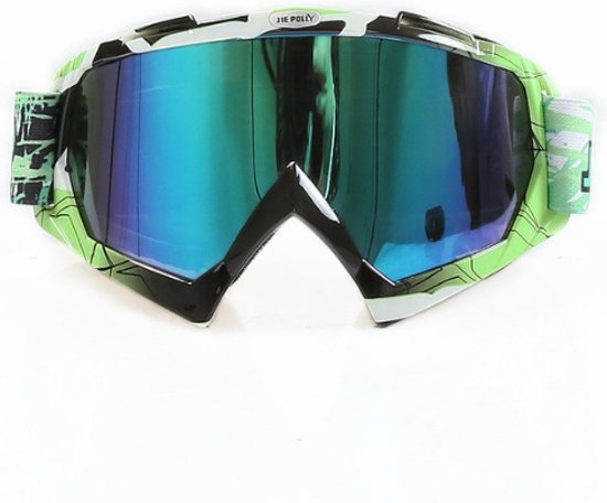 Skibril stoere luxe lens blauw evo frame groen / zwart N type 5 - ☀/☁