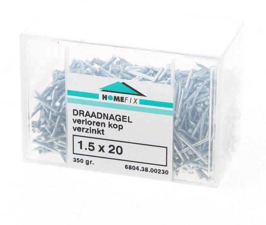 Hoenderdaal Draadnagel verloren kop gegalvaniseerd 1.5 x 20mm 350 gram