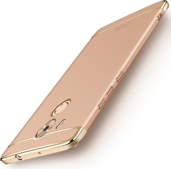 MOFI voor Huawei Mate 8 drie - lid Shield volledige dekking geval terug beschermkap (goud)