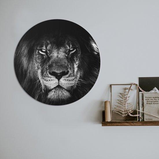 Schilderij Fotokunst Rond - Black king | 50 x 50 cm | PosterGuru