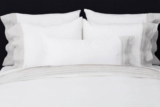 Wit Met Grijs Dekbedovertrek.Flamant Home Linen Chic Grey Dekbedovertrek 140 X 200 220 Cm Wit Grijs