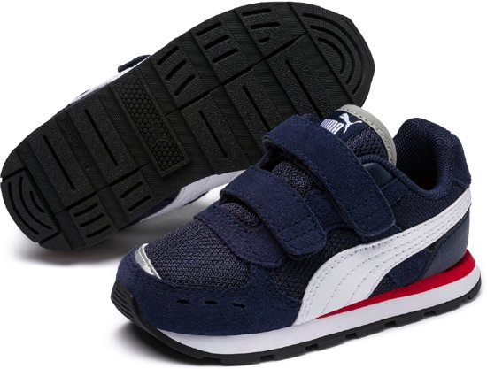 5105d58d55c PUMA Vista V Inf Sneakers Kinderen - Peacoat / Puma White - Maat 26