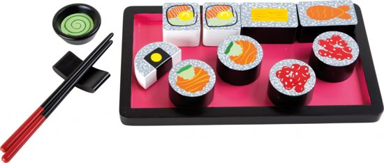 gratis bezorging enorme korting fantastische besparingen Small Foot Houten Sushi