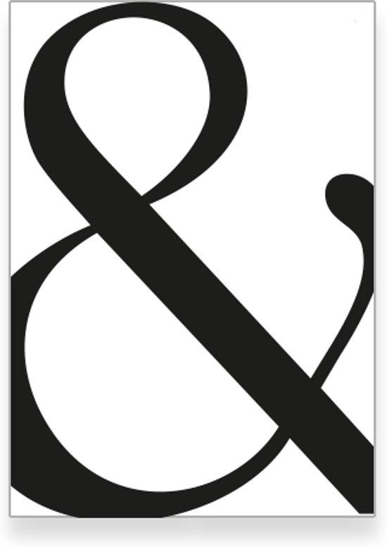 bol.com | Textposters.com - Letter & poster – zwart wit – woonkamer ...
