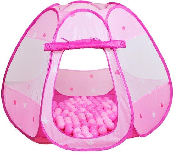 KNORRTOYS Speeltent Bella – Ballenbad met 100 roze ballen