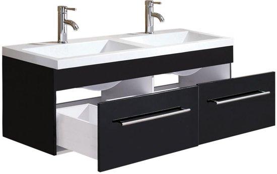 Bol.com saniclear lopez badkamermeubel 135 zijdeglans zwart