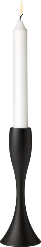 Stelton Reflection Kandelaar - Mat zwart - H17 cm