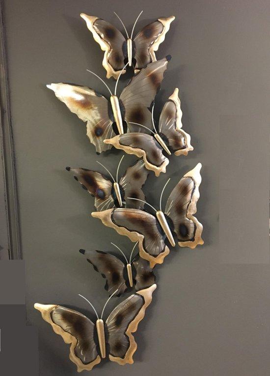 bolcom wanddecoratie vlinders metaal