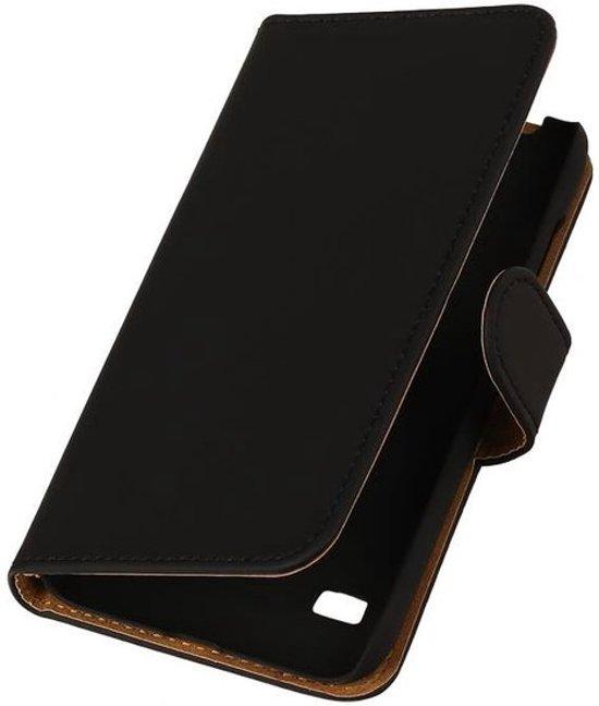 MiniPrijzen -  booktype - bookstyle - Wallet Case - Flip Cover - Book Case Bescherm Hoes Zwart Huawei Ascend Y550 Telefoonhoesje - Smartphone hoesje in Plasmolen