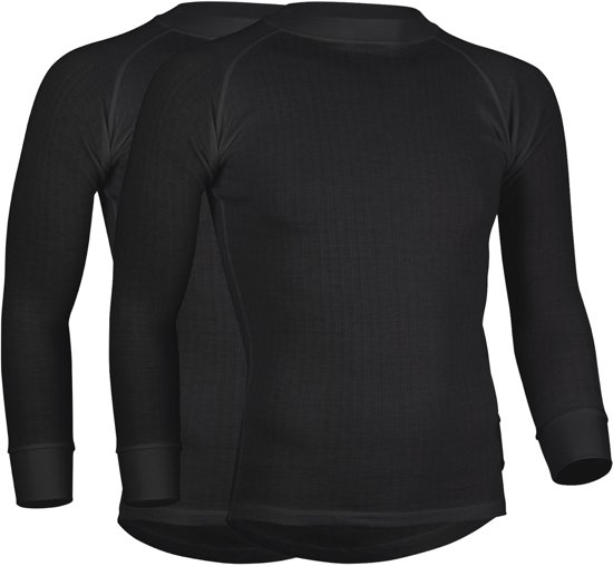 Avento 2-pack Thermoshirts Heren - Zwart