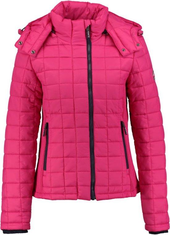 Superdry roze winterjas - Maat XS