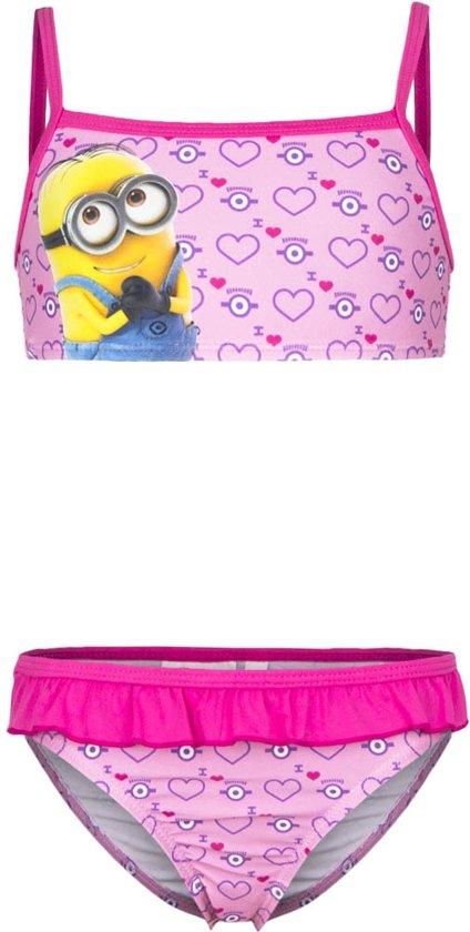 1c5ea73490 Minions bikini roze maat 98
