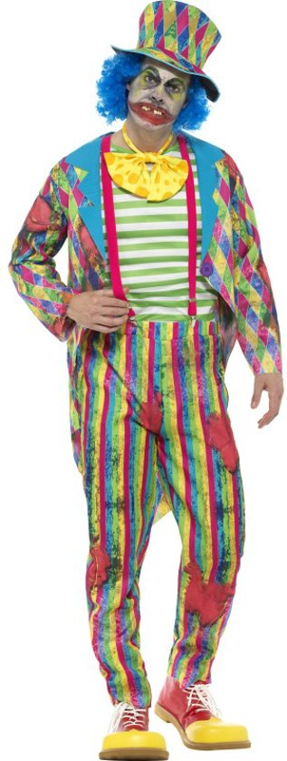 Deluxe Patchwork Clown Costume Male