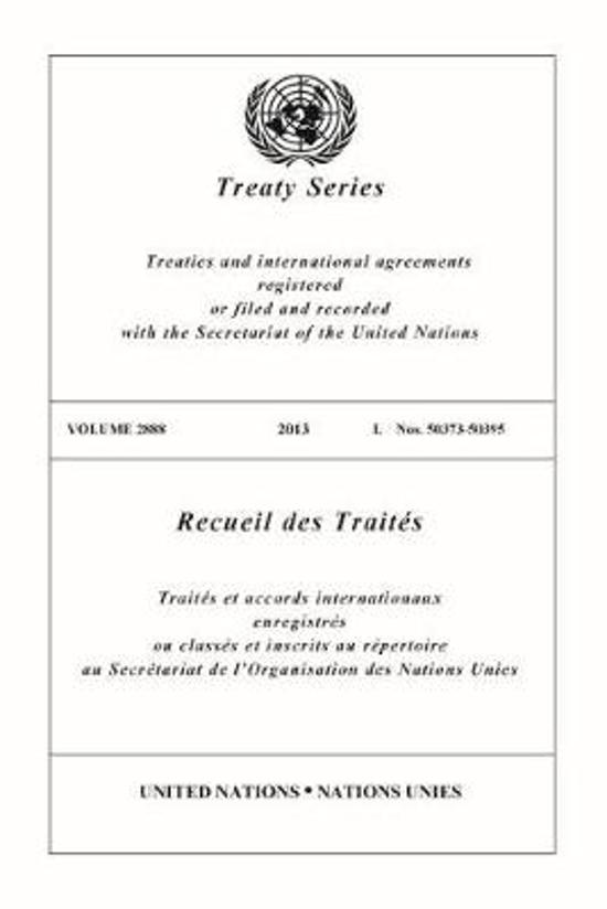 Treaty Series 2888 (English/French Edition)