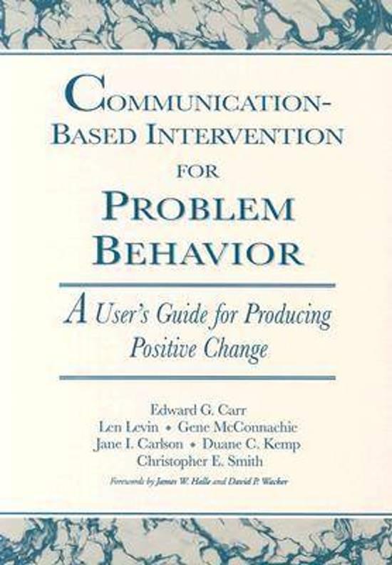 Communication-Based Intervention for Problem Behaviour