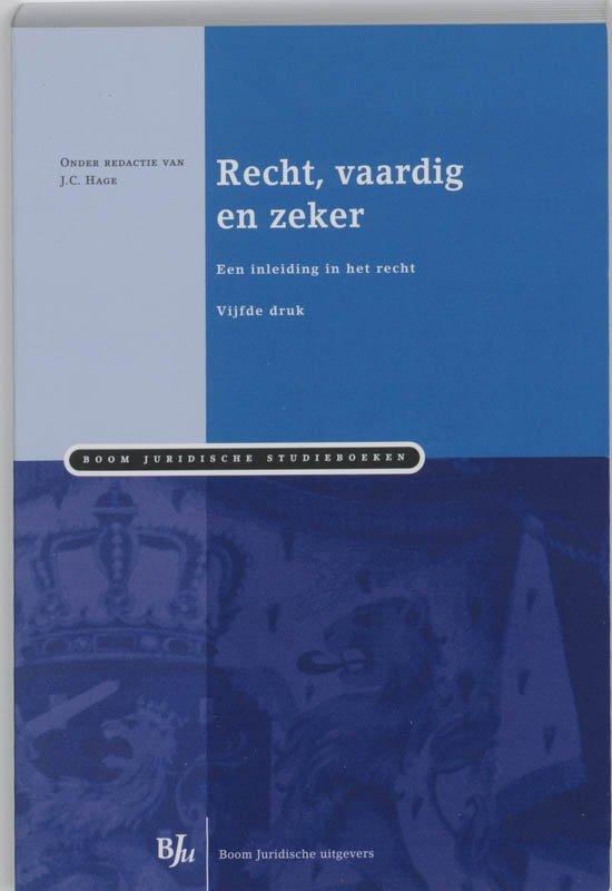Boom Juridische studieboeken Recht vaardig en zeker