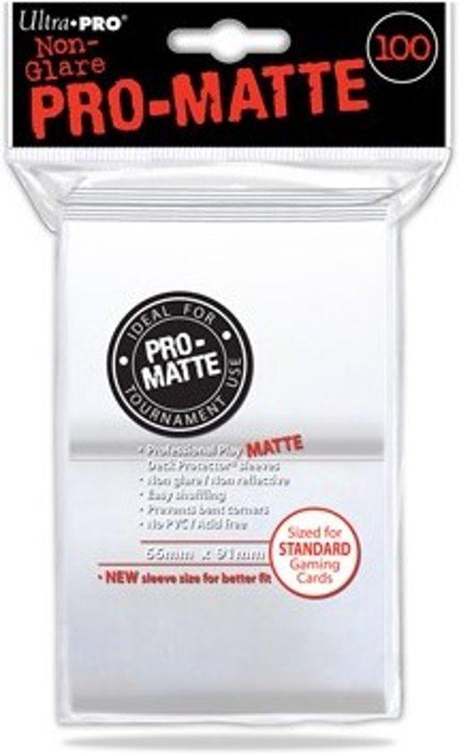 Afbeelding van het spel Sleeves Pro-Matte - Standaard Wit (100 stuks)