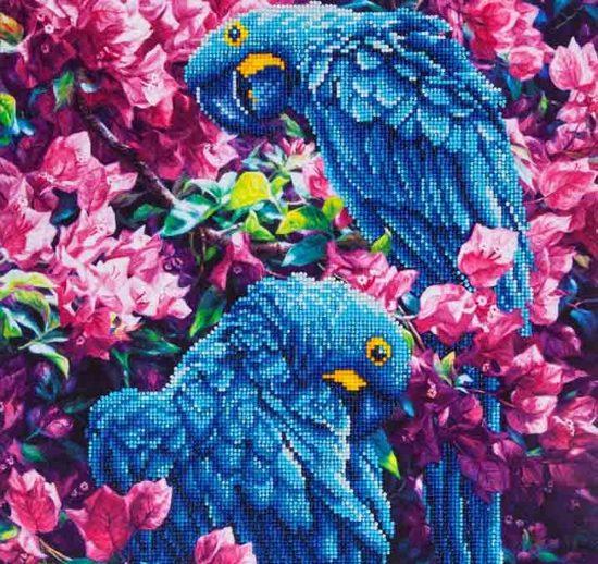 Diamond Dotz ® painting Blue Parrots (42x52 cm)