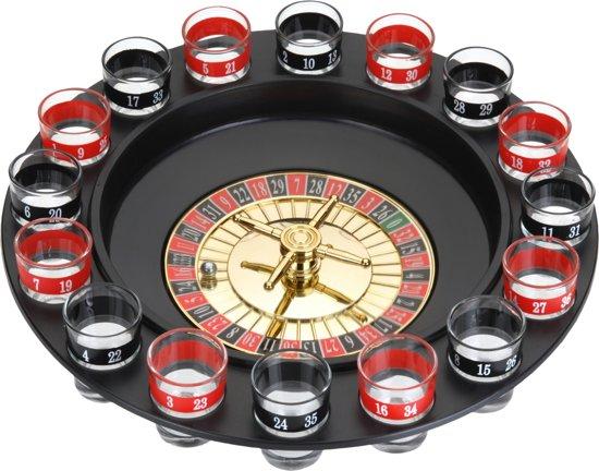 Free And Easy Drankspel Roulette 28 Cm Zwart/rood 18-delig
