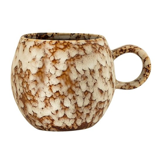 Bloomingville - beker stoneware ø8,5xh8 cm bruin