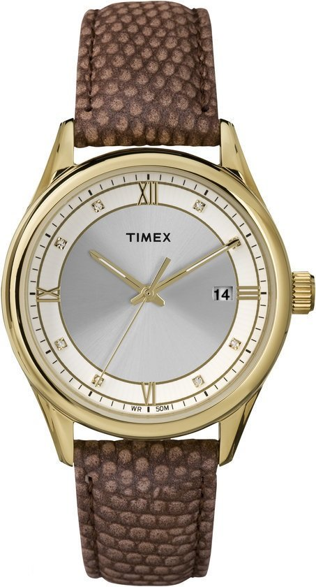 Timex Classics Strap T2P557 - Horloge - 36 mm - Bruin