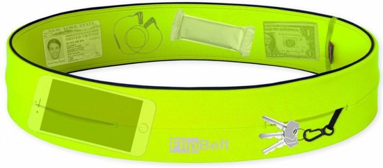 Flipbelt- Running belt - Hardloop belt - Hardloop riem - Geel - M