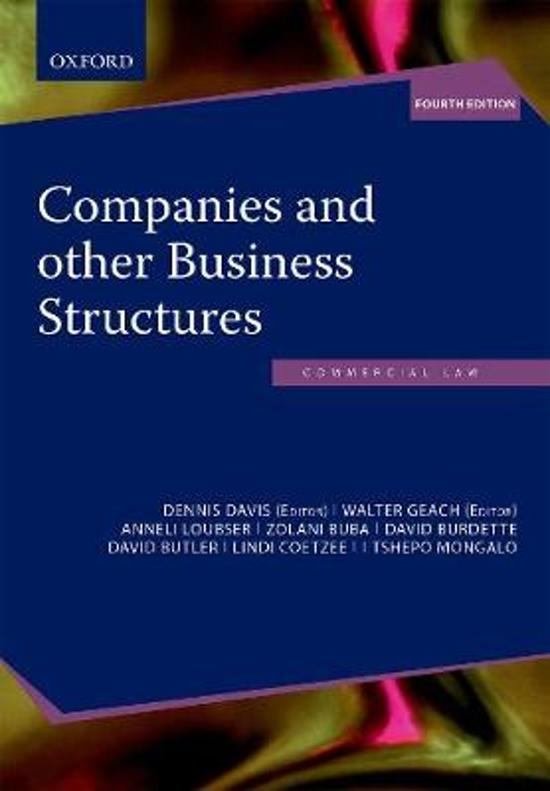Companies and other Business Structures