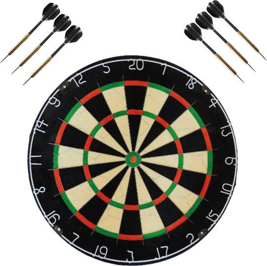 A-merk dartbord (best getest) - met 2 sets 22 gram - dartpijlen - dartset - darts pijlen - dartbord