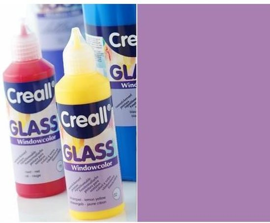 Creall Glass - glasstickerverf lila 1 Fles - 80 Mililiter 20525