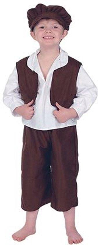 Straatjongetje kostuum voor kinderen 122-134 (7-9 jaar)