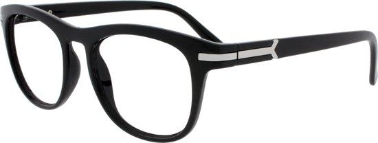 9602c87e3e8632 Icon Eyewear NCB303 Brad Leesbril +1.00 - Zwart - Zilverkleurig insert