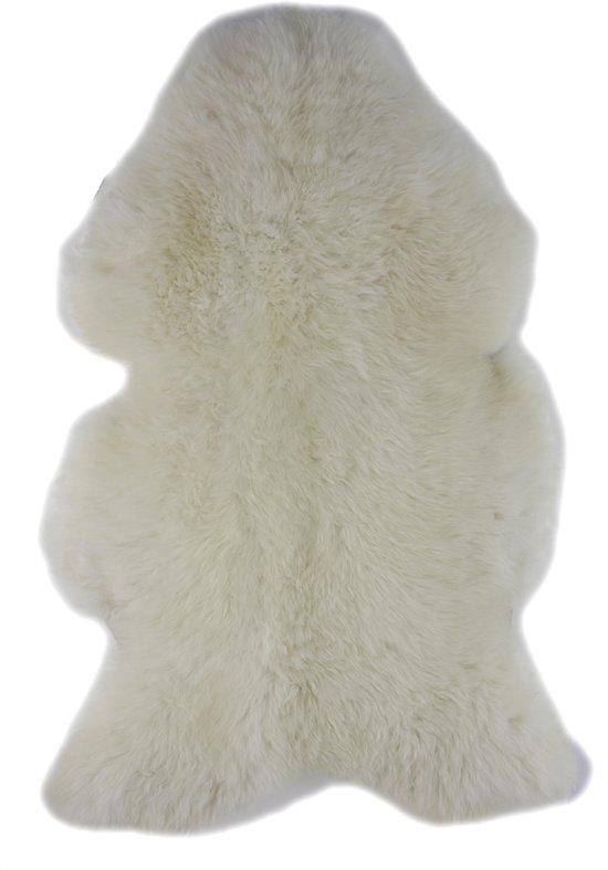 Lamsvachtje WIT – 90 x 60 cm - Zeer Mooi Haar - 100% ECHT - Schapenvachtje Vloerkleed - Lam Huid