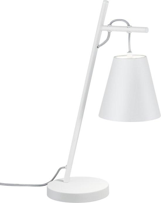 Trio ANDREUS - Tafellamp - E14 - Zonder lichtbron - wit mat