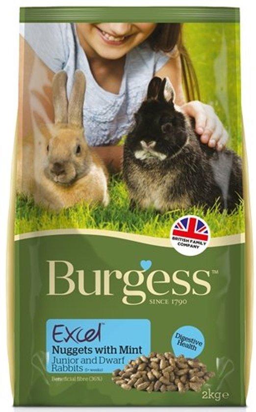 Burgess excel rabbit junior & dwergkonijn 2 kg
