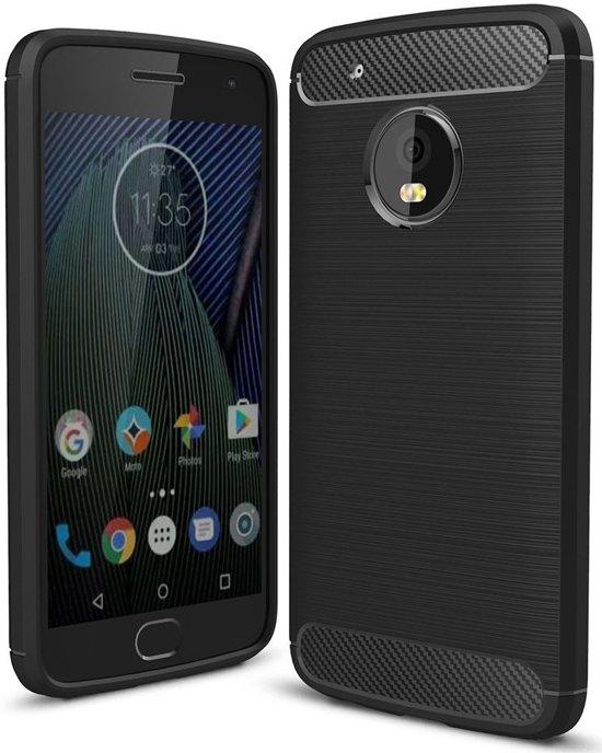 Boîtier Flip Noir Tpu Pour Motorola Moto G5, Plus