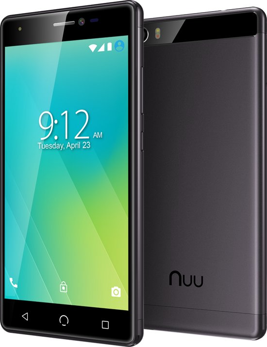 "5"" Nuu Mobile M2 Dual-sim 16gb Black Android™ 7.0 Nougat"