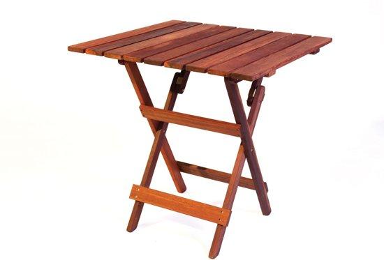 Bol.com bistro vierkante tuintafel 70 cm uit exclusief mahoniehout
