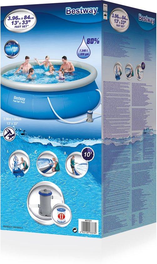 Bestway - Rond zwembad met pomp 3.96M x 84cm