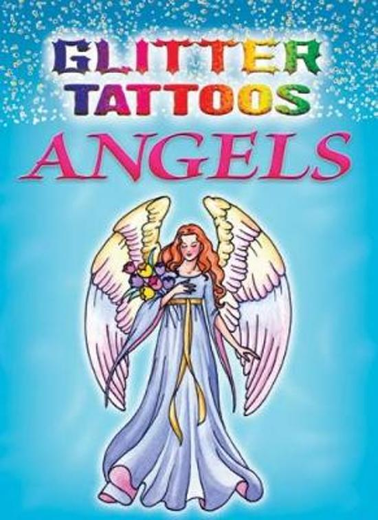 Boek Cover Glitter Tattoos Angels Van Barbara Lanza Paperback