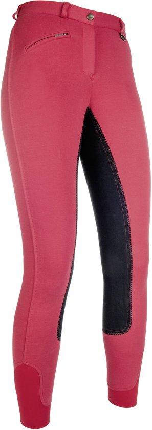 HKM Rijbroek -Penny easy- 3/4 zitvlak rood/zwart 176