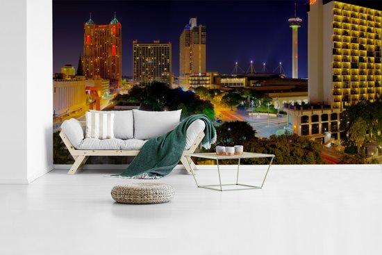 Fotobehang vinyl - Panorama van de  Noord-Amerikaanse San Antonio in Texas breedte 440 cm x hoogte 220 cm - Foto print op behang (in 7 formaten beschikbaar)
