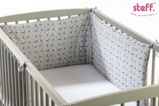 Steff - bedomrander - speels vosje & eekhoorntje - 190x40 cm - jersey katoen - bed 60x120 cm en 70x140 cm