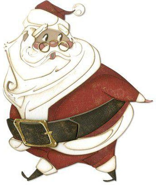 Sizzix Thinlits Die Set - 14PK Jolly St. Nick 664198 Tim Holtz