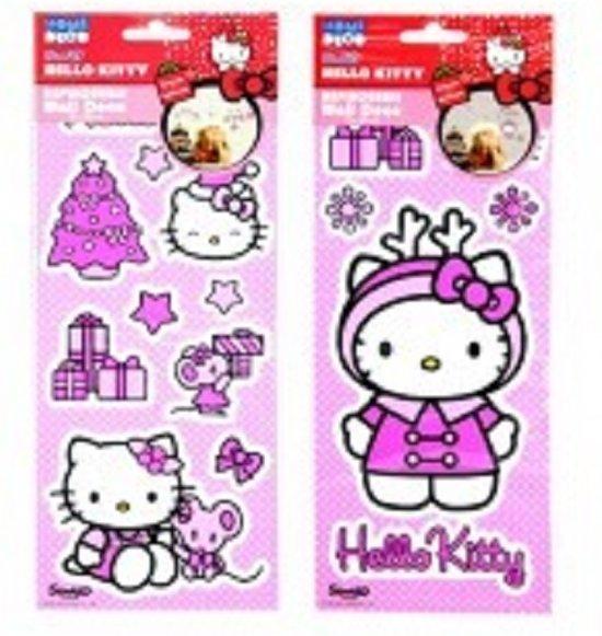 Hello Kitty Opbergrek.Hello Kitty Kerst Muurstickers Verwijderbaar